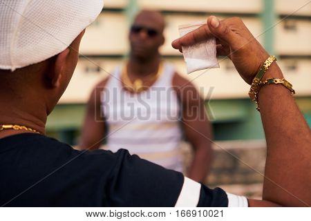 Gang Members Meeting For Selling And Buying Drugs And Narcotics