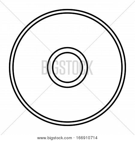 Simple thin line compact disc icon vector