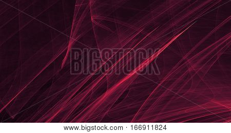Abstract red light and laser beams, fractals  and glowing shapes  multicolored art background texture for imagination, creativity and design.