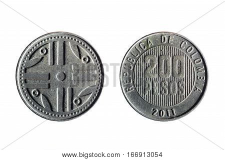 Colombian Currency Of 200 Pesos