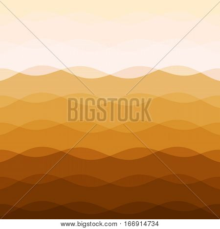 Abstract earth tone background with curve lines, stock vector