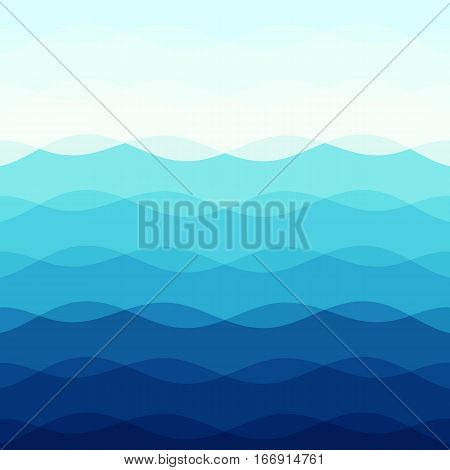 Abstract blue tone background with curve lines, stock vector