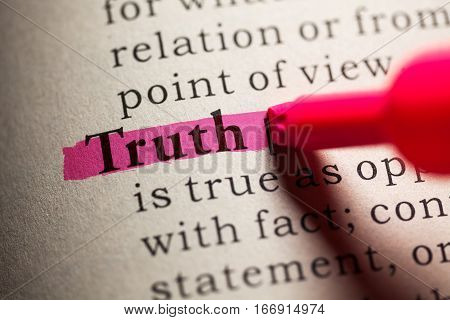 Fake Dictionary definition of the word truth.
