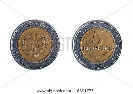 Bolivian Five Peso Coin
