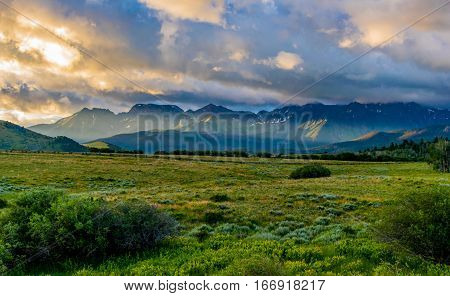San Juan Mountain Sunrise Near Telluride Colorado