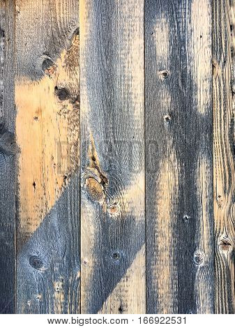 Old textured wood boards with aged discoloration