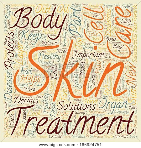 In Your Skin Some Facts on the Body s Largest Organ text background wordcloud concept