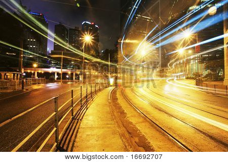 Beautiful scenery of the city at night