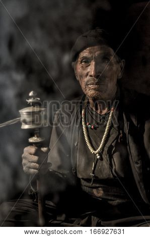 Old Native Man In Nepal