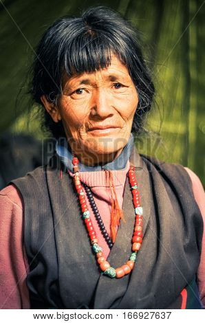 Sad Eyes Of Woman In Nepal
