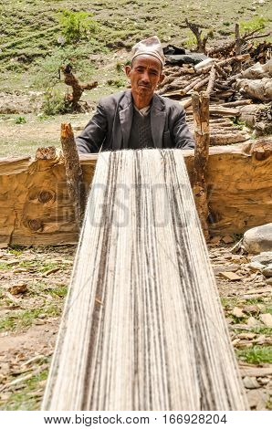 Working Man In Nepal