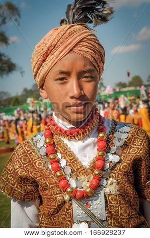 Boy With Turban In Meghalaya