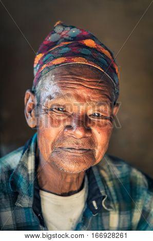 Modest Man In Nepal