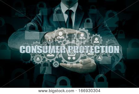 Safety and insurance of trade and goods. Consumer protection concept