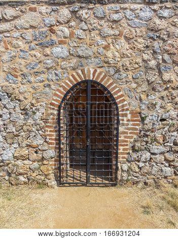 Doorway in old stone constructed building