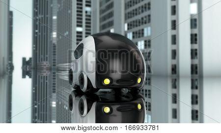 Futuristic car design - 3D Illustration