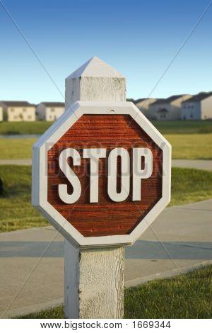Wooden Stopsign