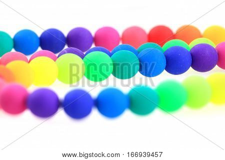 Rainbow Beads Isolated