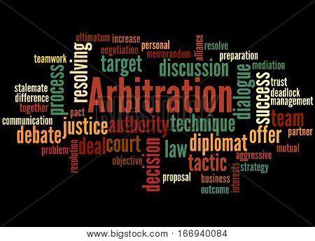 Arbitration, Word Cloud Concept 5