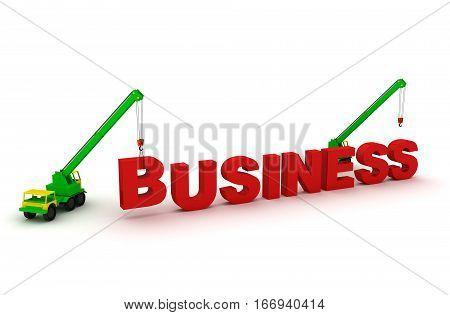 Building business corporation create success idea. 3d render