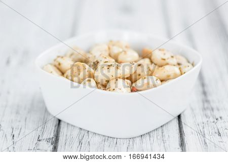 Marinated Garlic (selective Focus, Close-up Shot)