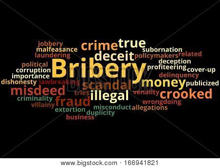Bribery, Word Cloud Concept 6