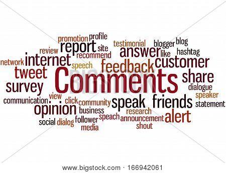 Comments, Word Cloud Concept 2
