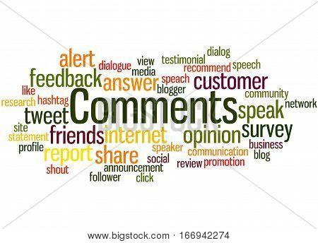 Comments, Word Cloud Concept 5