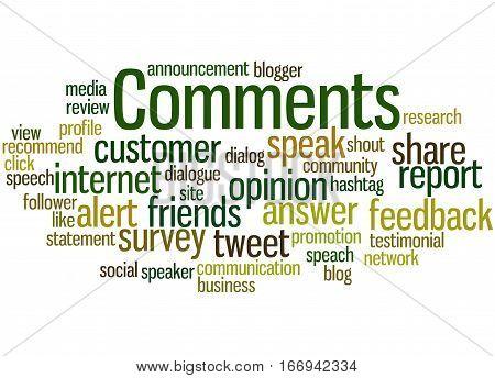 Comments, Word Cloud Concept 6