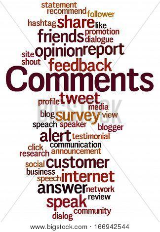 Comments, Word Cloud Concept 8