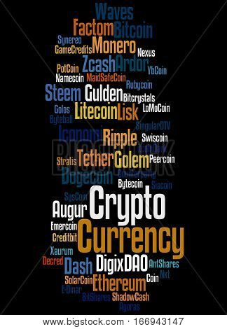 Crypto-currency, Word Cloud Concept 4