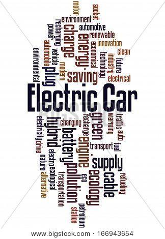 Electric Car, Word Cloud Concept 6
