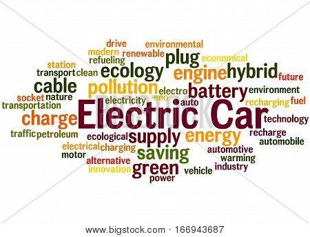 Electric Car, Word Cloud Concept 7