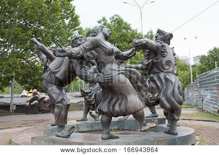 TBILISI, GEORGIA - AUGUST 8, 2013:Sculptural composition