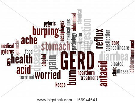 Gerd - Gastroesophageal Reflux Disease, Word Cloud Concept