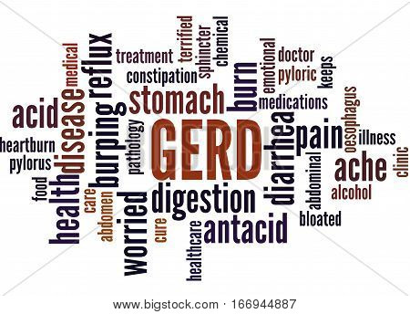 Gerd - Gastroesophageal Reflux Disease, Word Cloud Concept 6