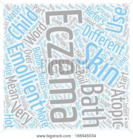 Infant Eczema Disease And Disorder Of The Skin text background wordcloud concept