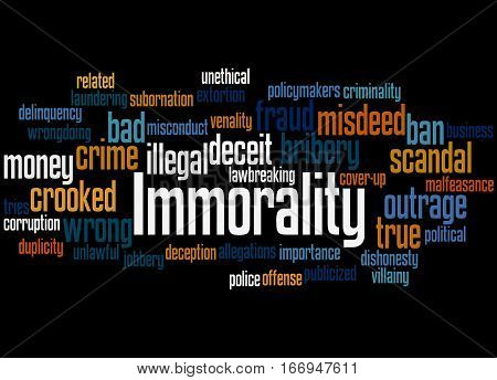 Immorality, Word Cloud Concept