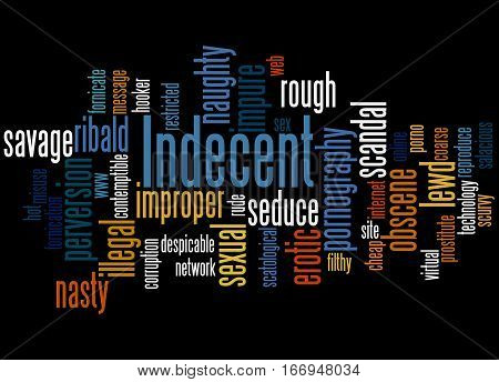 Indecent, Word Cloud Concept 3