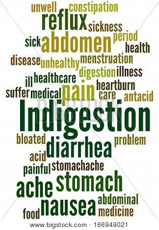 Indigestion, Word Cloud Concept 4