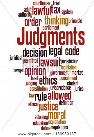 Judgments, Word Cloud Concept 2