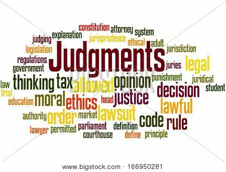 Judgments, Word Cloud Concept 6