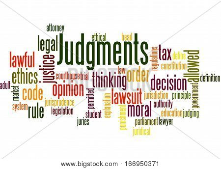Judgments, Word Cloud Concept 8
