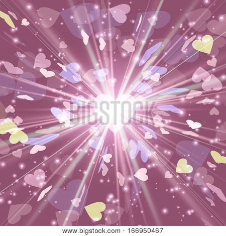Cosmic radiation Heart Radiation cosmos explosion design