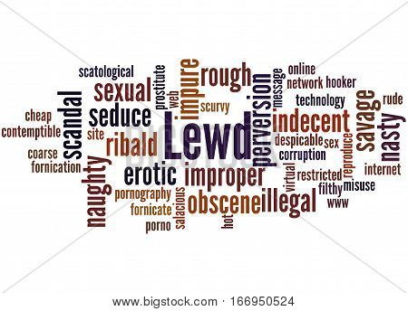 Lewd, Word Cloud Concept 2