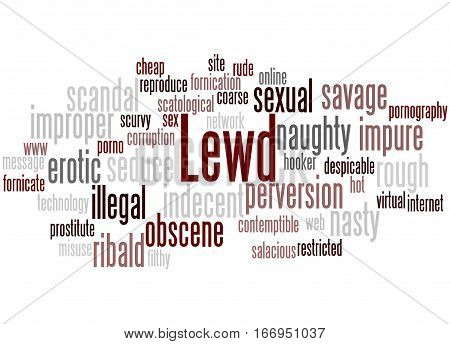 Lewd, Word Cloud Concept 4