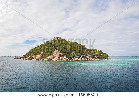 A Small Island of Koh Nang Yuan near Koh Tao, Thailand