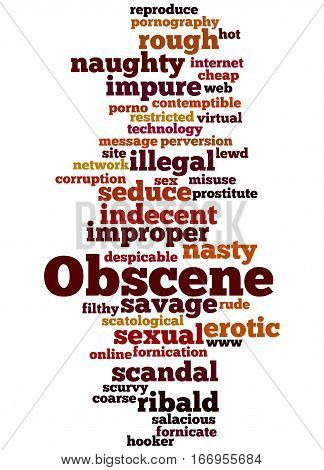 Obscene, Word Cloud Concept