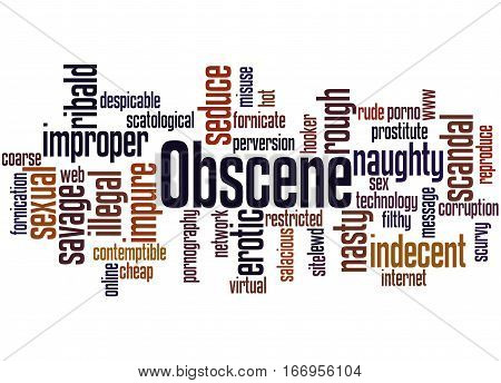 Obscene, Word Cloud Concept 4