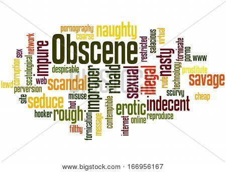 Obscene, Word Cloud Concept 5